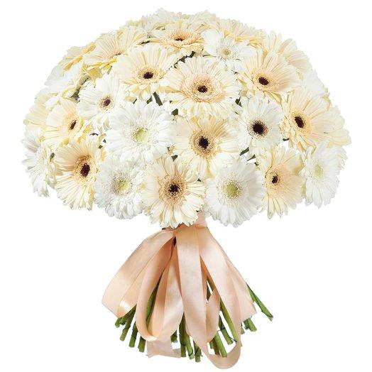 Букет из 51 Белой Герберы: букеты цветов на заказ Flowwow