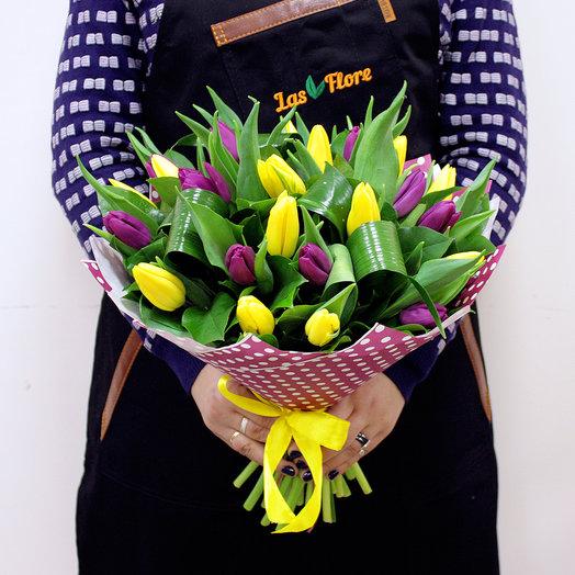 """Букет """"Изюм"""" (25 тюльпанов): букеты цветов на заказ Flowwow"""