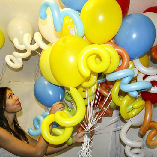 Воздушные шары-пружинки 20 шт: букеты цветов на заказ Flowwow