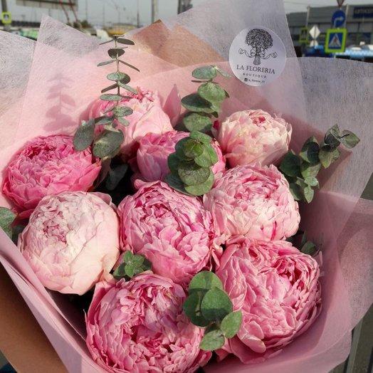 Пионовая нежность: букеты цветов на заказ Flowwow