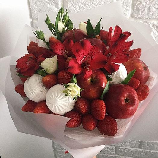 Клубничный букет : букеты цветов на заказ Flowwow