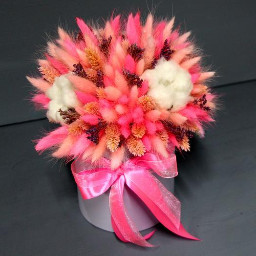Нежный букет из сухоцветов для самой любимой