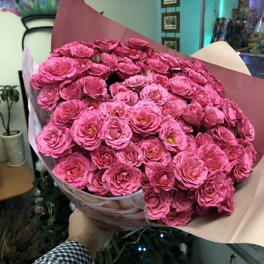 Огромный букет кустовых роз 29 штук: букеты цветов на заказ Flowwow