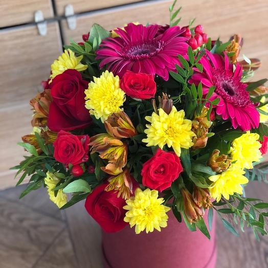 """Цветы в коробке """"Румяная заря"""""""