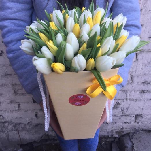 Тюльпаны в конусе: букеты цветов на заказ Flowwow