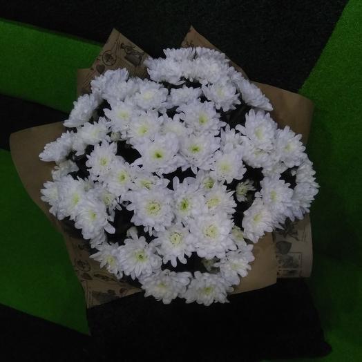 Букет из 11 хризантем кустовых