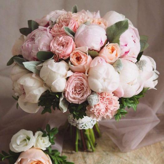 Свадебный букет 002: букеты цветов на заказ Flowwow