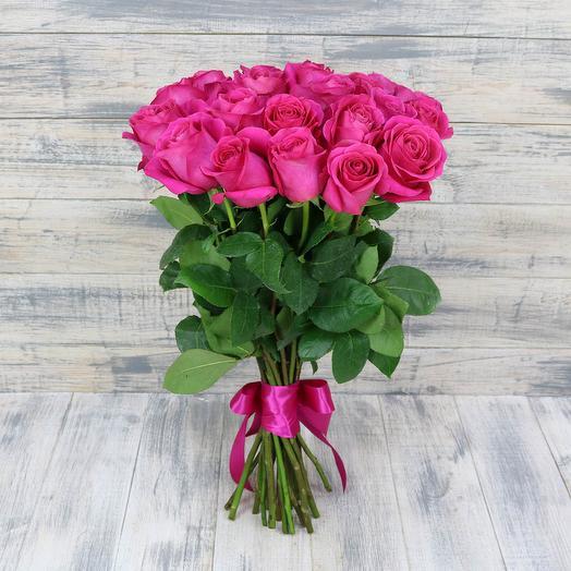 17 роз в атласной ленте: букеты цветов на заказ Flowwow