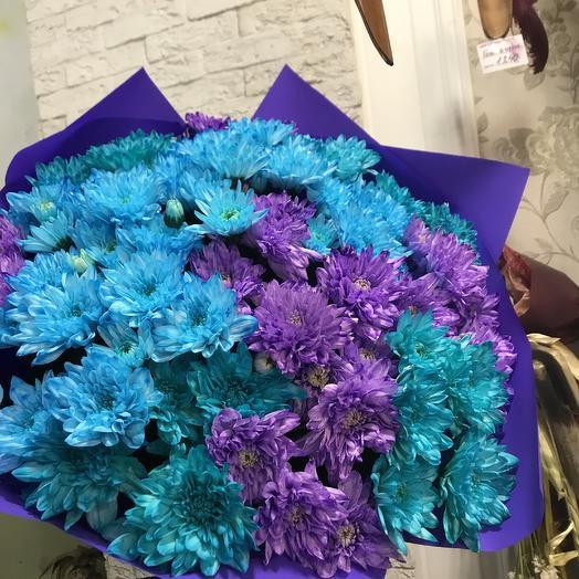 Огромный букет необыкновенной хризантемы: букеты цветов на заказ Flowwow