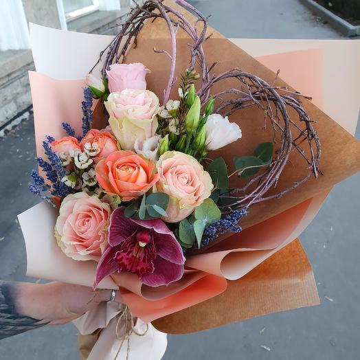 "Designer bouquet ""Love you"": flowers to order Flowwow"