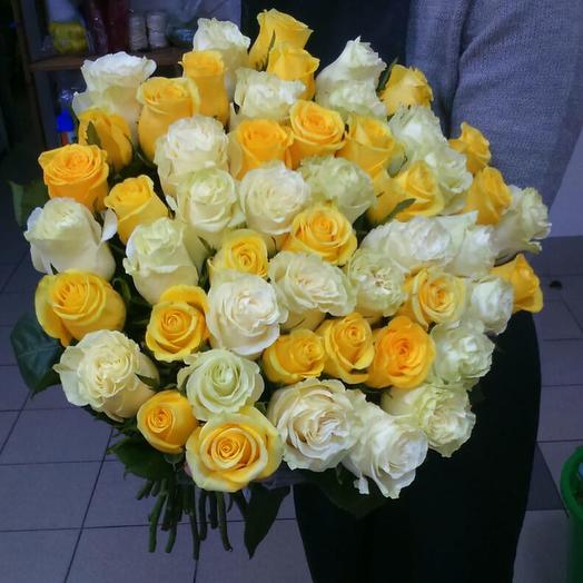 Желтые и белые розы