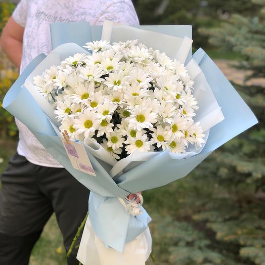 Букет кустовых хризантем бакарди «Ромашечки»