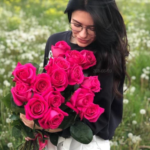 15 эквадорских роз 80 см