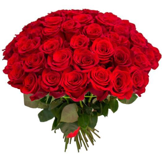 Букет моно Роза 101 красная