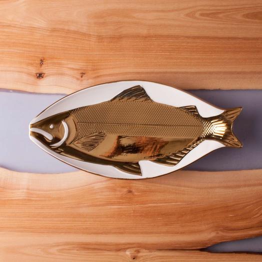 """Блюдо """"Рыбка"""" из керамики бол"""