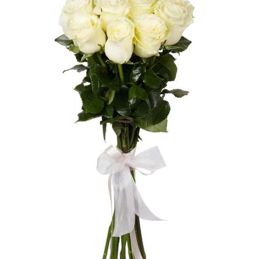 Высокие белые розы