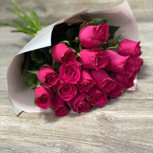 Монобукет малиновые розы