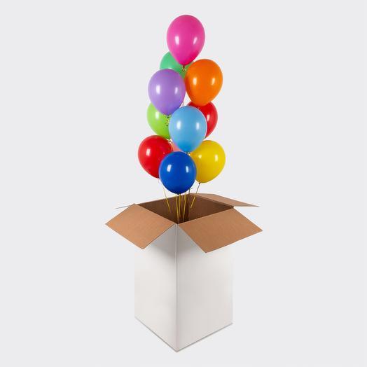 Большая коробка сюрприз с воздушными шариками