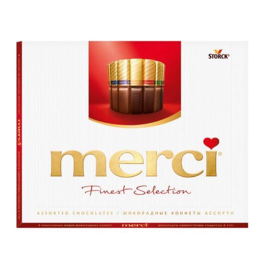 Мерси шоколадные конфеты ассорти  200 гр