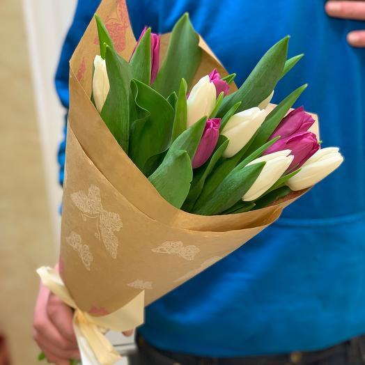 Тюльпаны в крафте 11