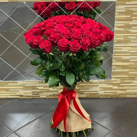 Роза Эквадор 80см