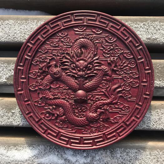 Панно Красный дракон Фэн-шуй