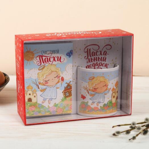 Подарочный набор «Светлой Пасхи!»: кружка, блокнот