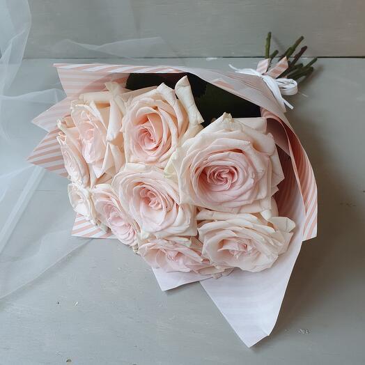 """Букет из 9 роз """"Франзуский стиль"""""""