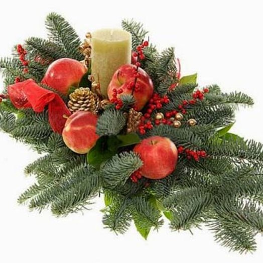 Новогодняя композиция Зимняя сказка: букеты цветов на заказ Flowwow