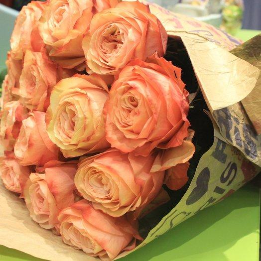 Букет из роз «Розовый капучино»