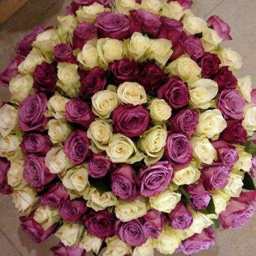 Букет из 101 розы Спираль: букеты цветов на заказ Flowwow