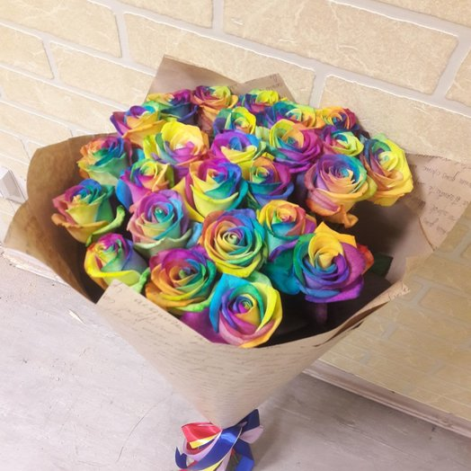 Букет Радуга 25 шт: букеты цветов на заказ Flowwow