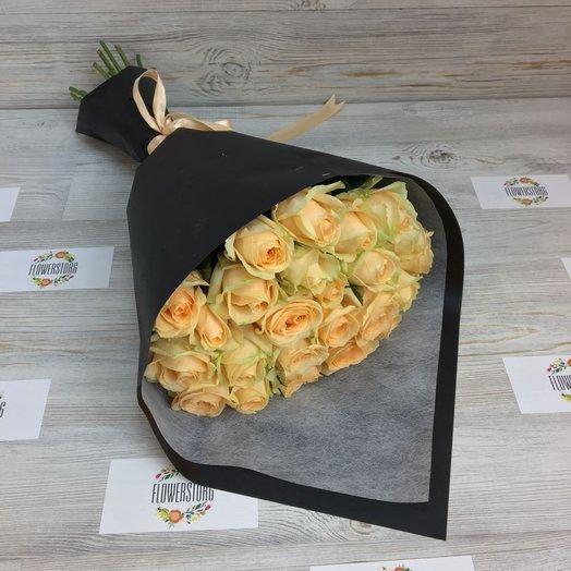 Букет из 25 Бежевых ( кремовых ) роз (50см) N59