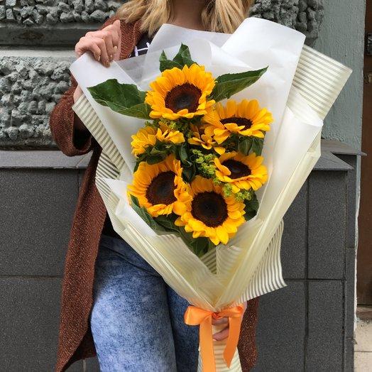 Кубанские подсолнухи: букеты цветов на заказ Flowwow