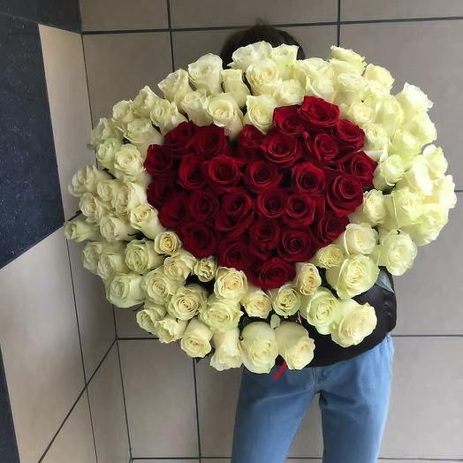 101роза от сердца: букеты цветов на заказ Flowwow