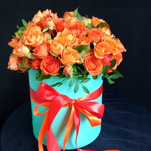 Коробка бирюза 25: букеты цветов на заказ Flowwow