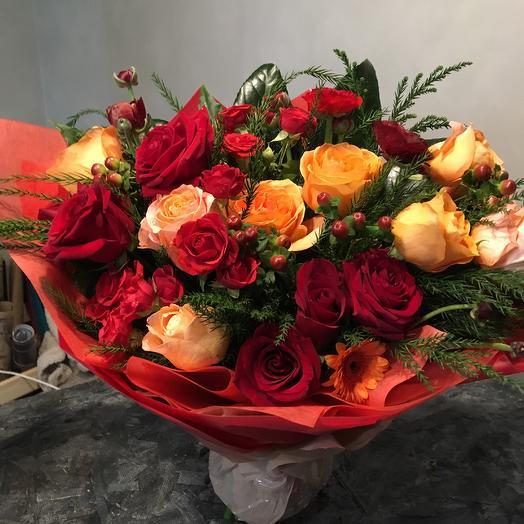 Рябиновые бусы: букеты цветов на заказ Flowwow
