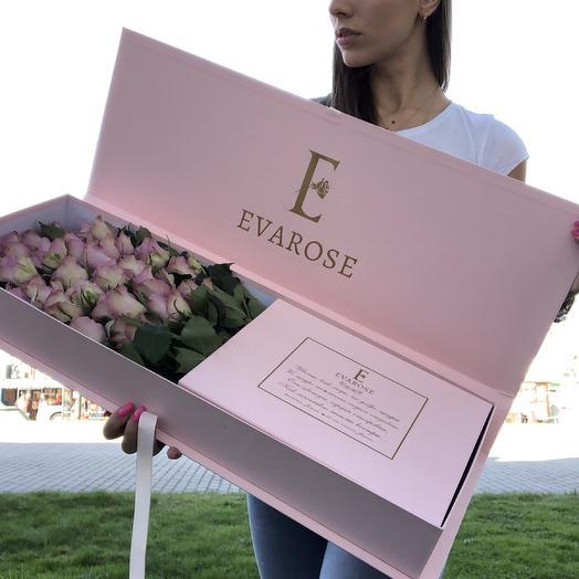 29 роз в коробке Люкс: букеты цветов на заказ Flowwow