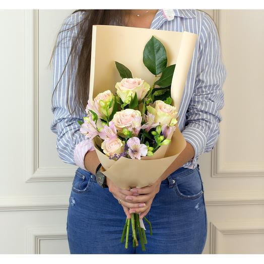 Букет Розовый микс: букеты цветов на заказ Flowwow
