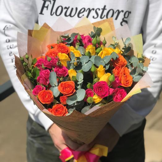 Кустовые розы. Микс. N463