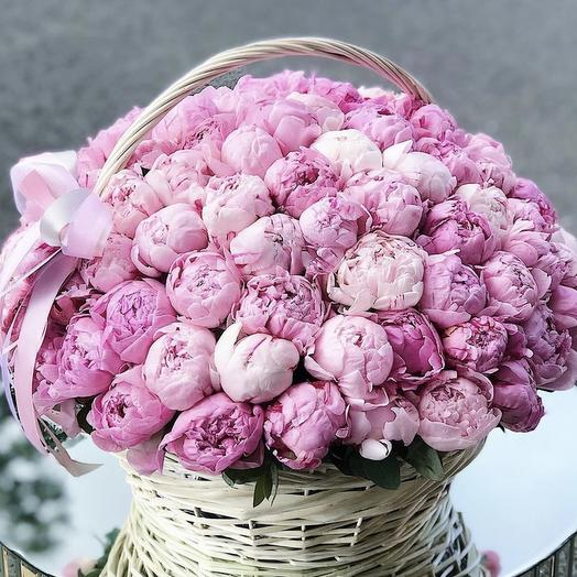 Необыкновенная корзина: букеты цветов на заказ Flowwow