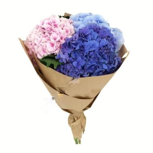 Гортензии в крафте: букеты цветов на заказ Flowwow
