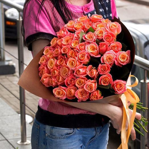 """Букет """"Мисс Пигги"""" Medium: букеты цветов на заказ Flowwow"""