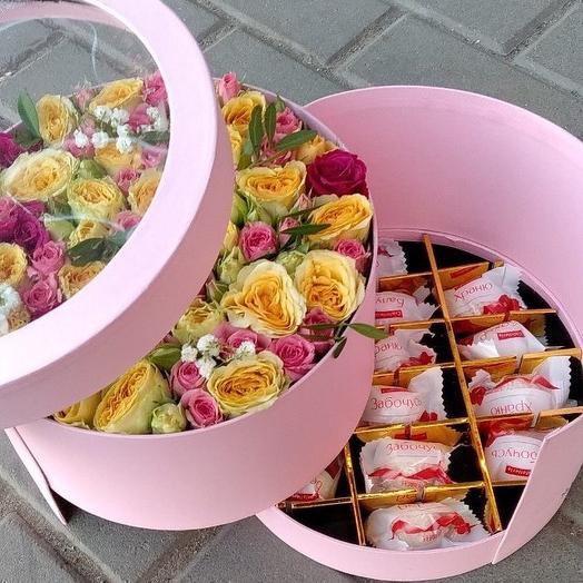 подарочная коробка с конфетами
