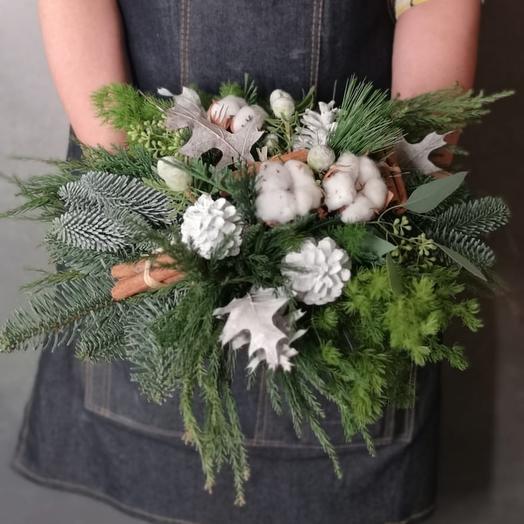 Композиция Новогодняя: букеты цветов на заказ Flowwow