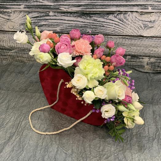 Сумочка сердце 💓: букеты цветов на заказ Flowwow