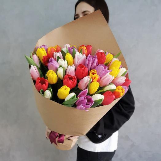 51 тюльпаны микс