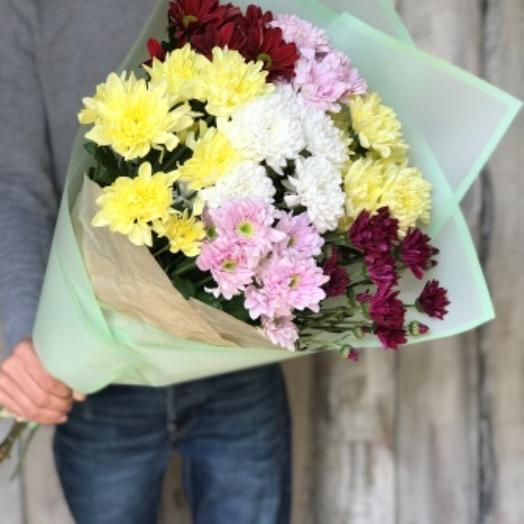 Букет из 7 кустовых хризантем: букеты цветов на заказ Flowwow