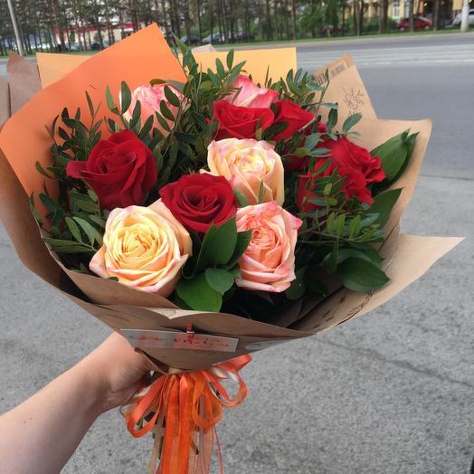 Оранжевый крафт: букеты цветов на заказ Flowwow
