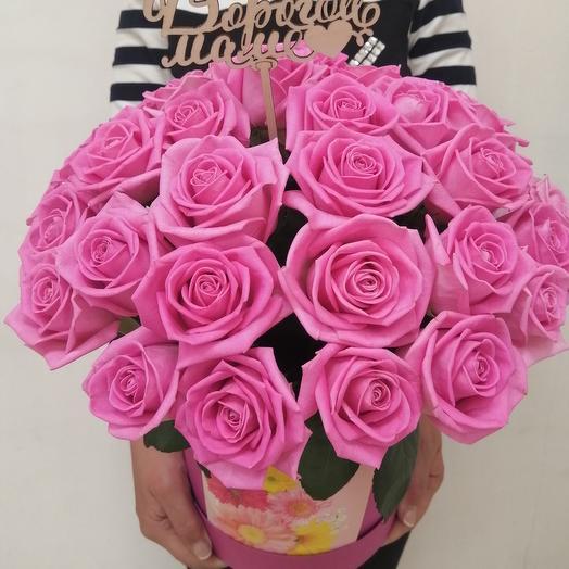 Коробка с розами для мамочки